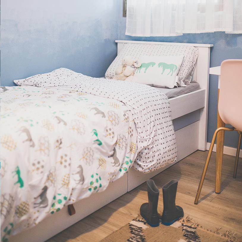 סנסציוני nogili - נוגילי I סט מצעים למיטת יחיד מעוצבים ומפנקים - 100% כותנה NR-53